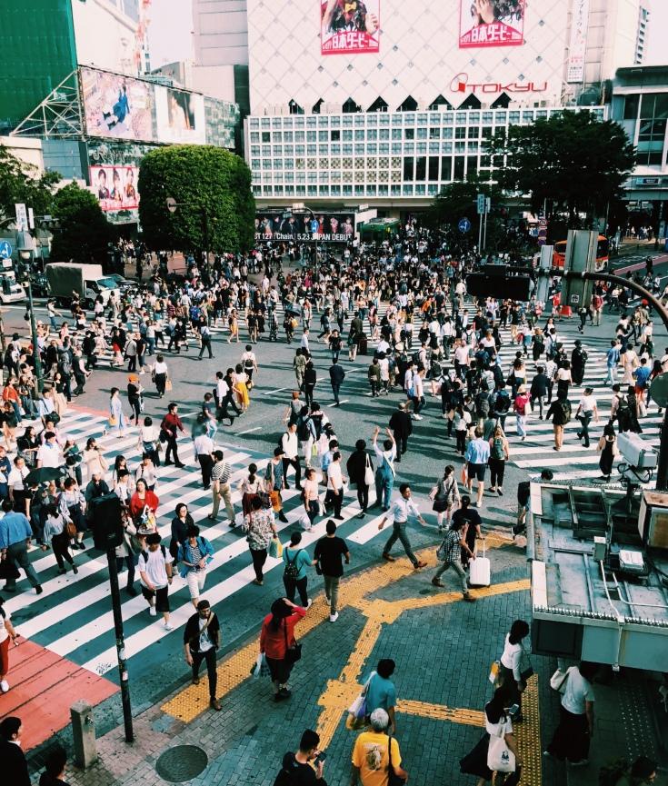 Tokio, co zwiedzać? Shibuya skrzyżowanie
